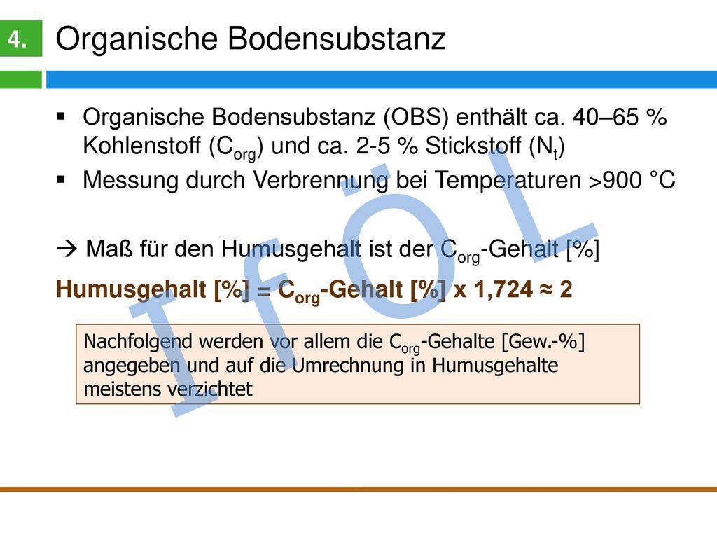 I f Ö L Was ist Humus 4. Bodenkundliche Definition: