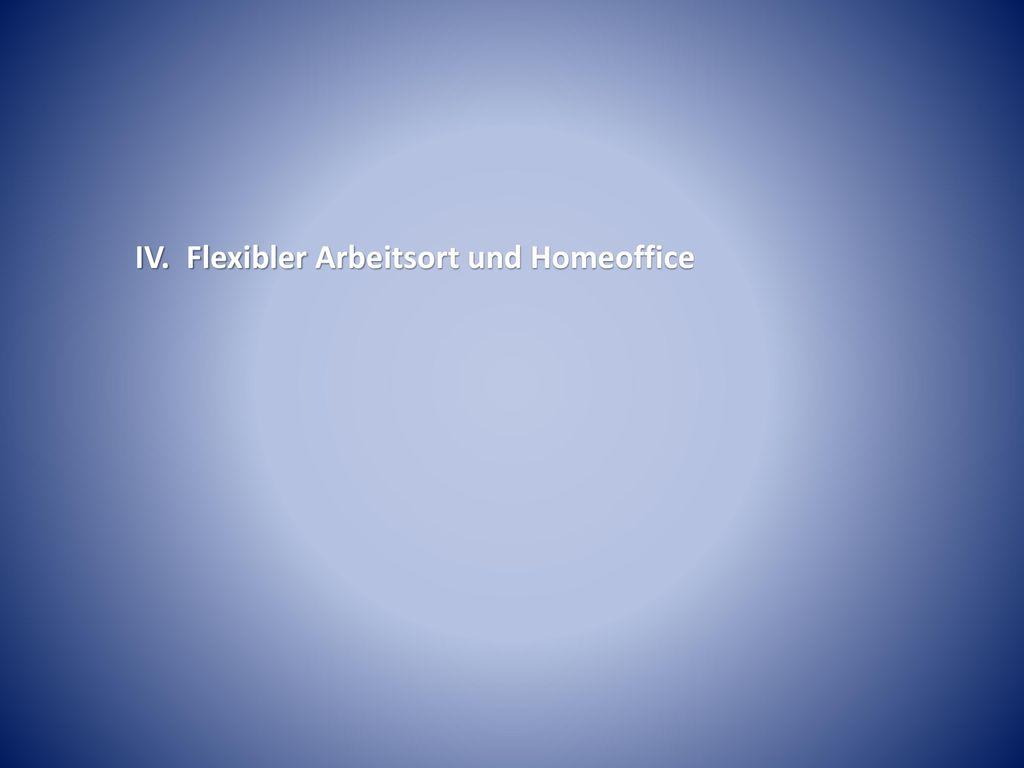 IV. Flexibler Arbeitsort und Homeoffice