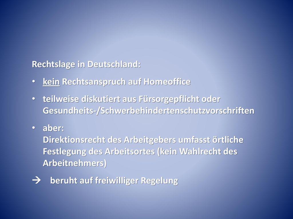 Rechtslage in Deutschland: