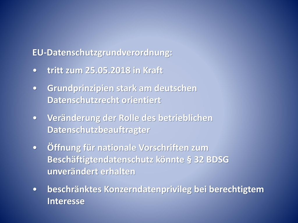 EU-Datenschutzgrundverordnung: