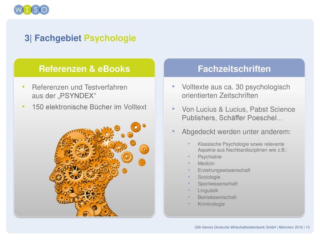 3| Fachgebiet Psychologie