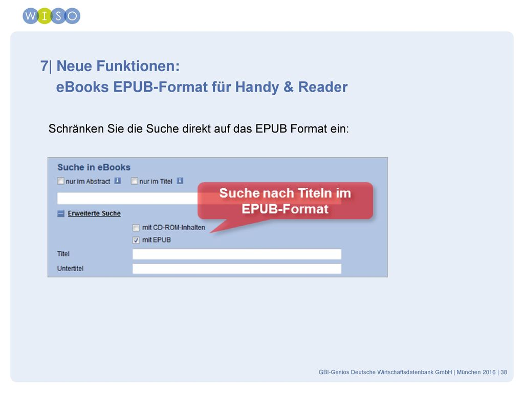 eBooks EPUB-Format für Handy & Reader