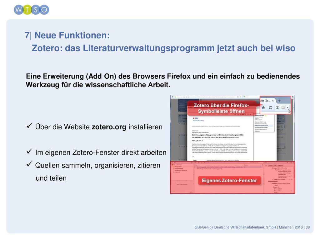 Zotero: das Literaturverwaltungsprogramm jetzt auch bei wiso