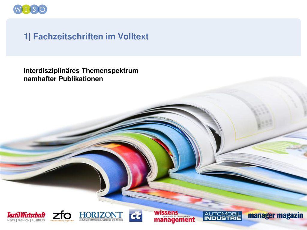 1| Fachzeitschriften im Volltext