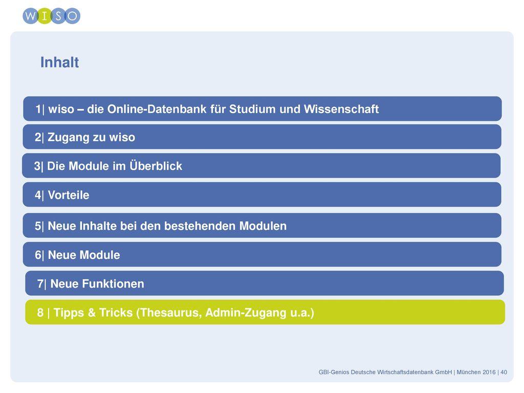 Inhalt 1| wiso – die Online-Datenbank für Studium und Wissenschaft