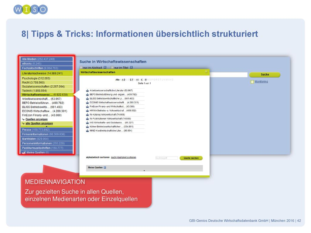 8| Tipps & Tricks: Informationen übersichtlich strukturiert