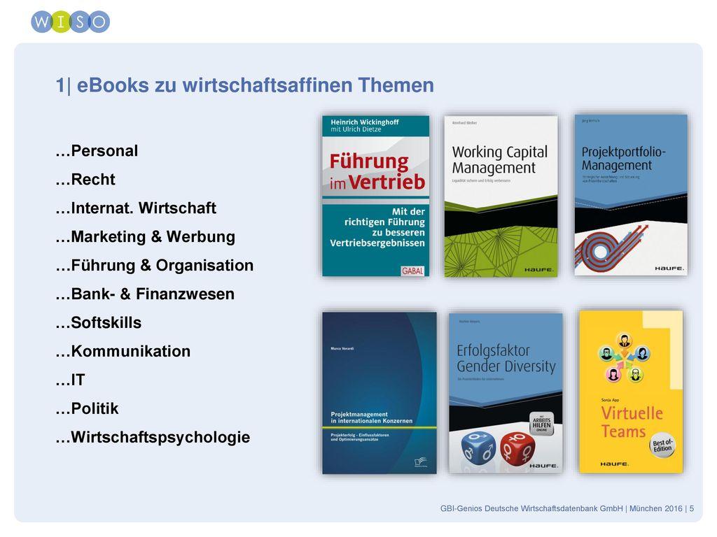 1| eBooks zu wirtschaftsaffinen Themen