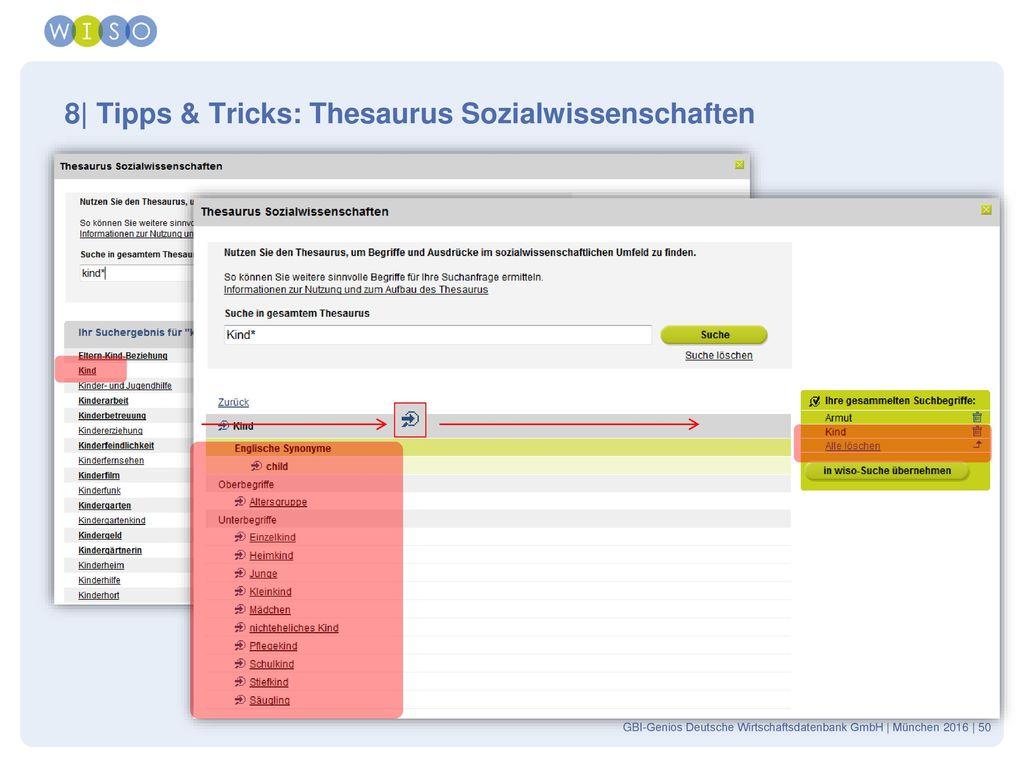 8| Tipps & Tricks: Thesaurus Sozialwissenschaften