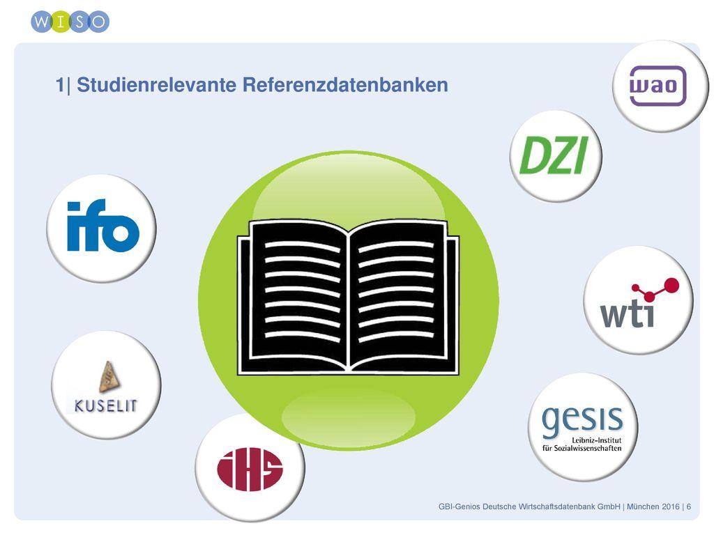 1| Studienrelevante Referenzdatenbanken