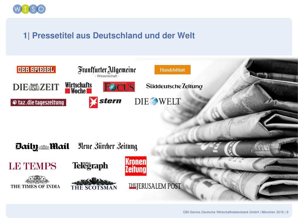 1| Pressetitel aus Deutschland und der Welt