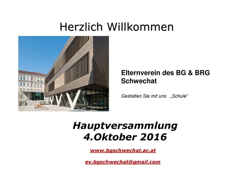 Hauptversammlung 4.Oktober 2016