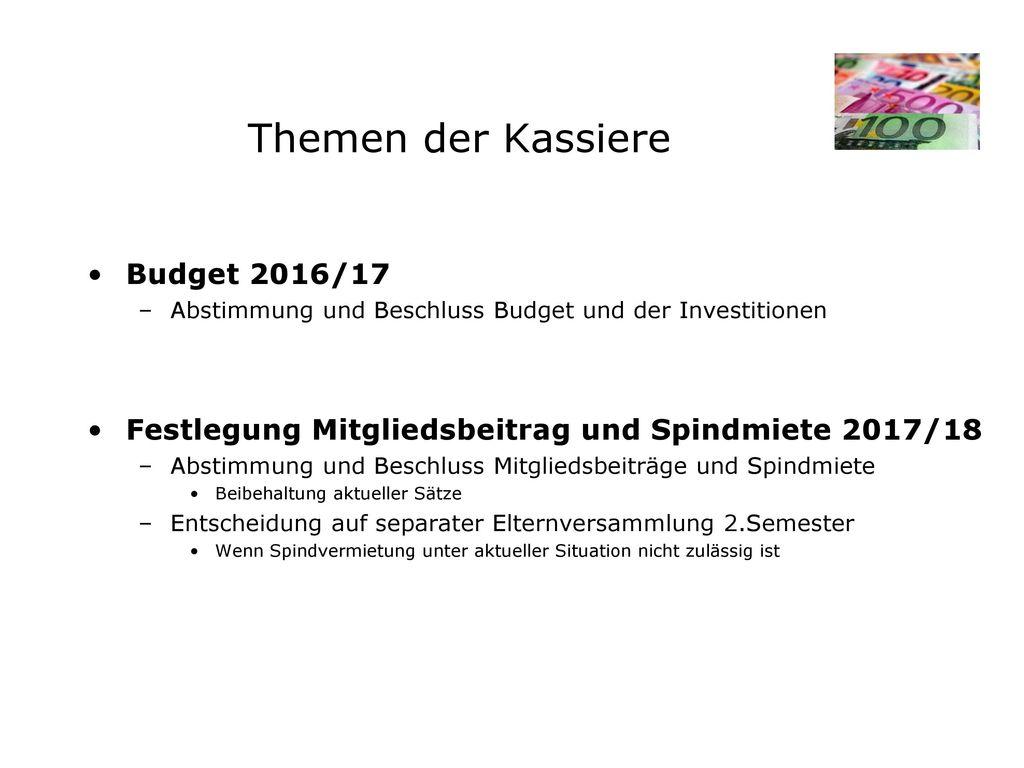 Budget 2016/2017