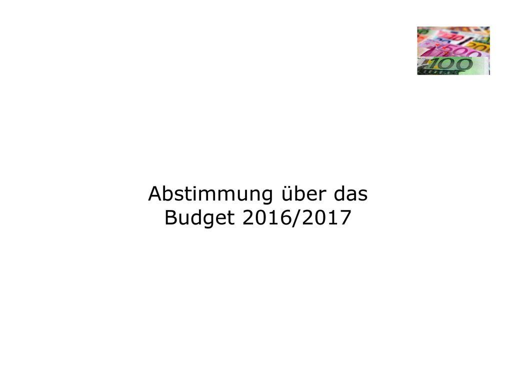 Schlußbestand 2015/16 gem. Prüfung