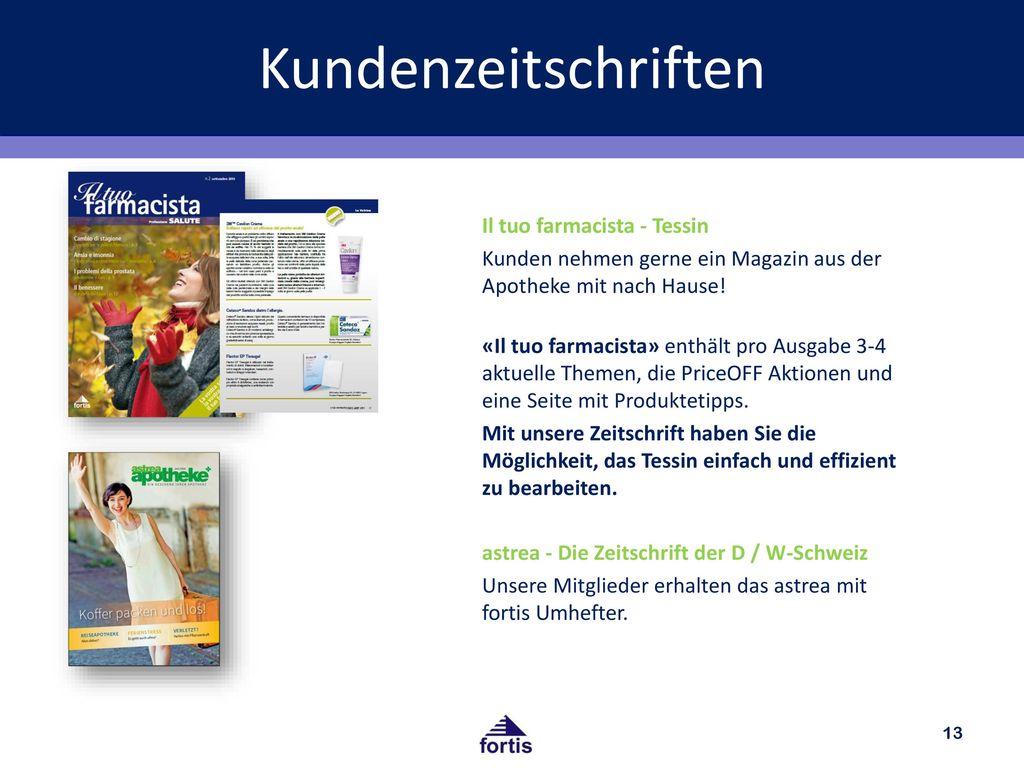 Kundenzeitschriften Il tuo farmacista - Tessin