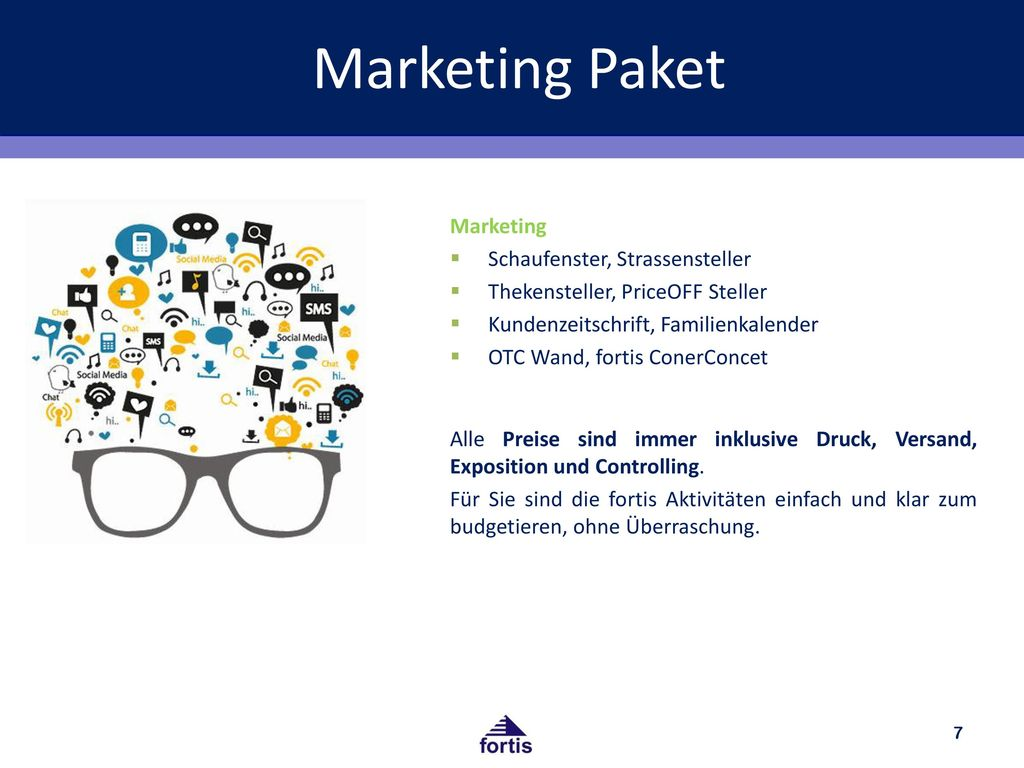 Marketing Paket Marketing Schaufenster, Strassensteller