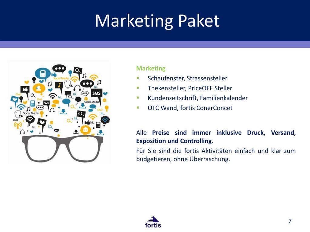 Marketing Paket Marketing Schaufenster, Strassensteller
