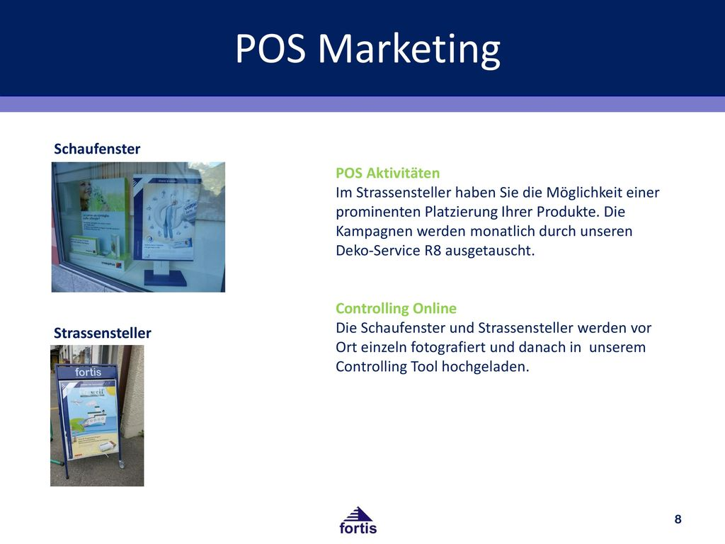 POS Marketing Schaufenster POS Aktivitäten