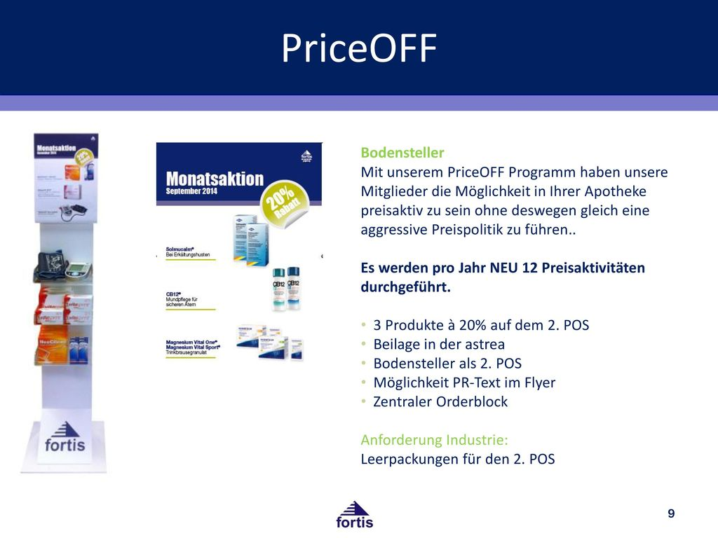 PriceOFF Bodensteller