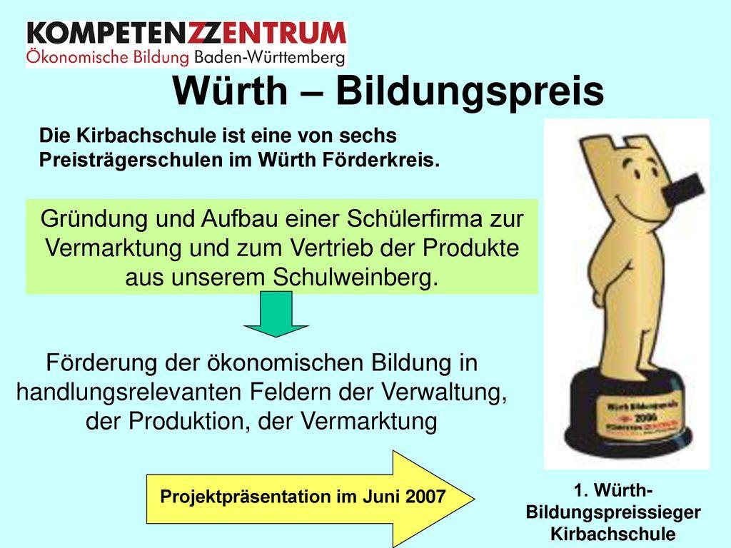 1. Würth- Bildungspreissieger Kirbachschule