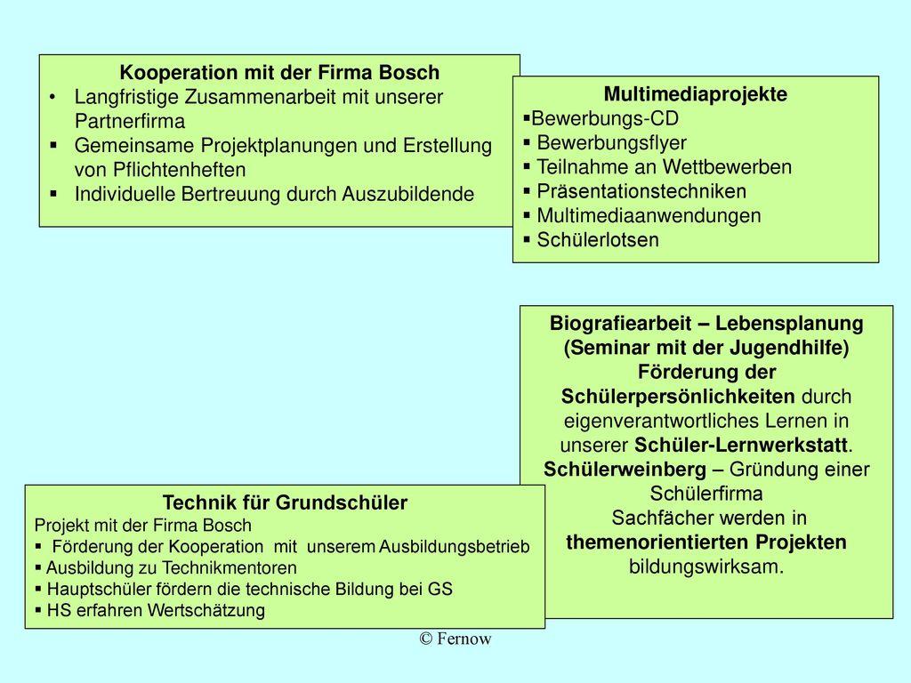 Kooperation mit der Firma Bosch