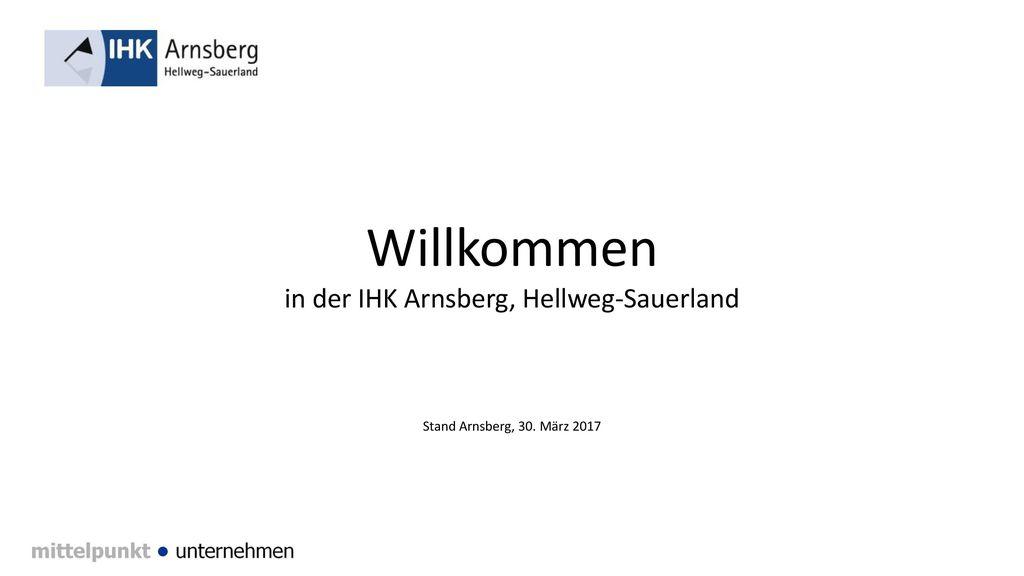 Willkommen in der IHK Arnsberg, Hellweg-Sauerland Stand Arnsberg, 30