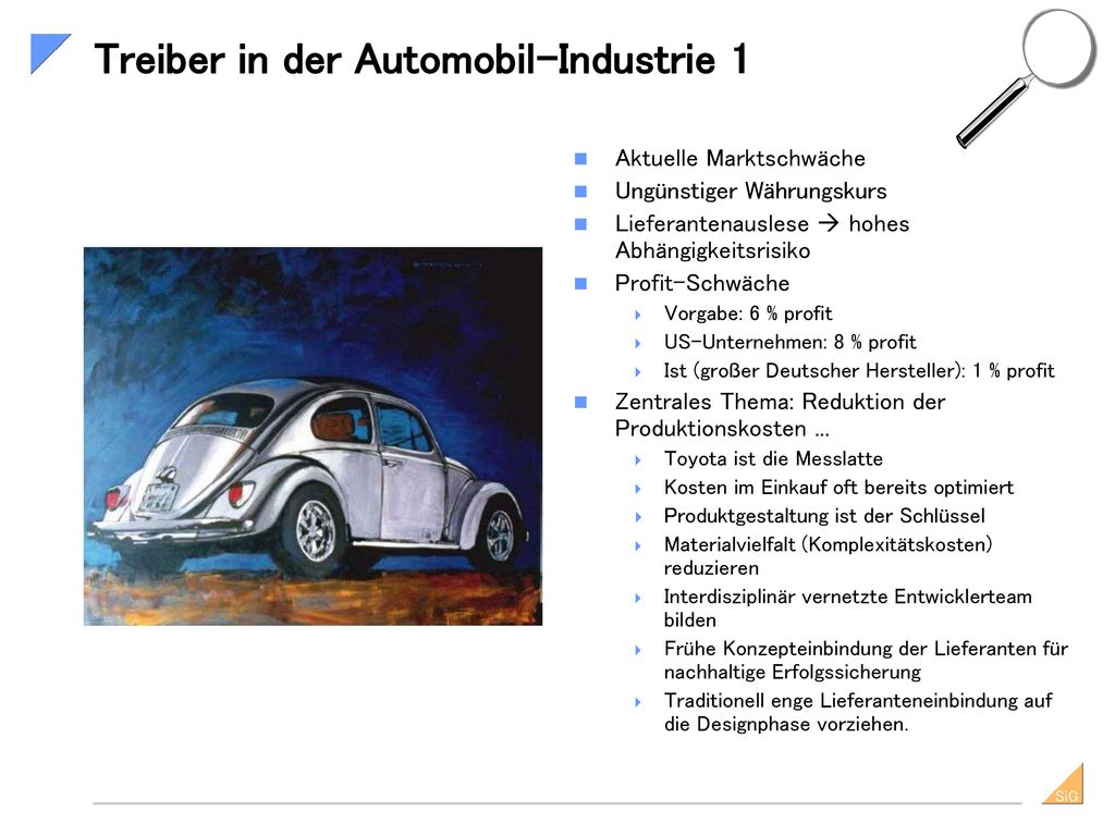 Treiber in der Automobil-Industrie 1