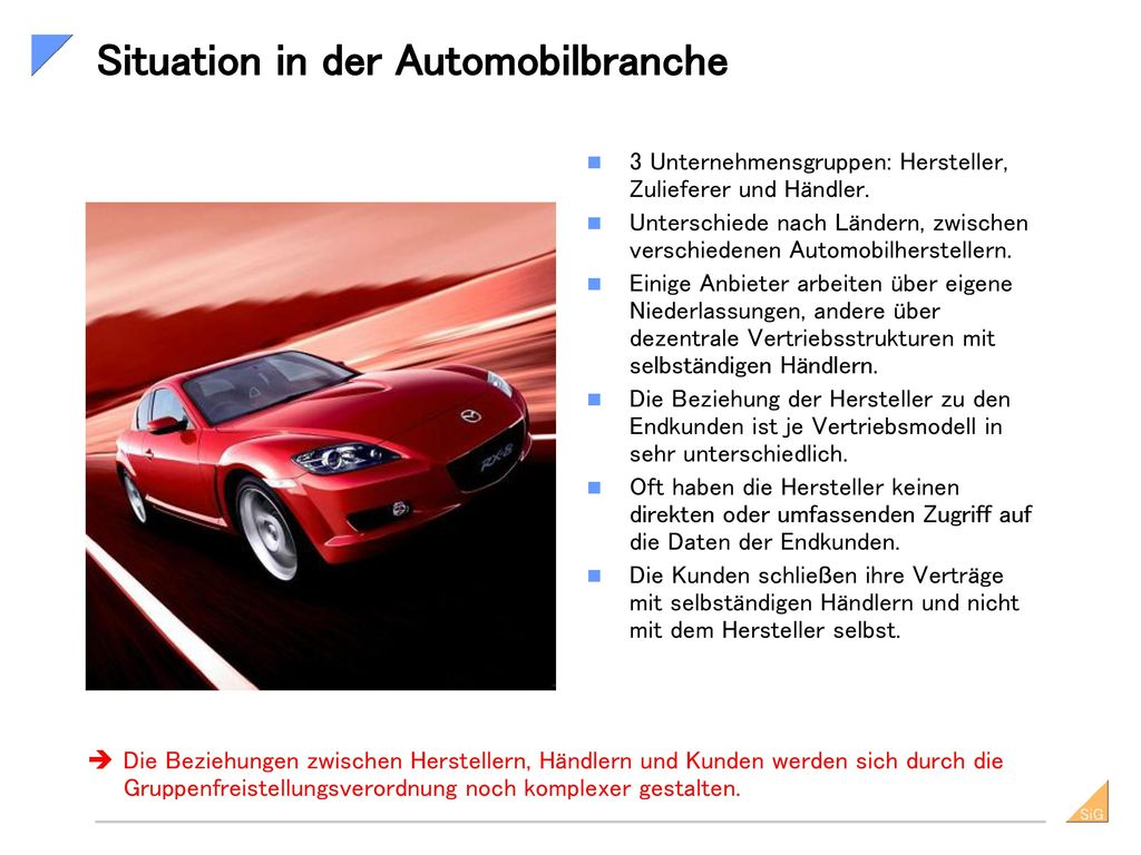 Situation in der Automobilbranche