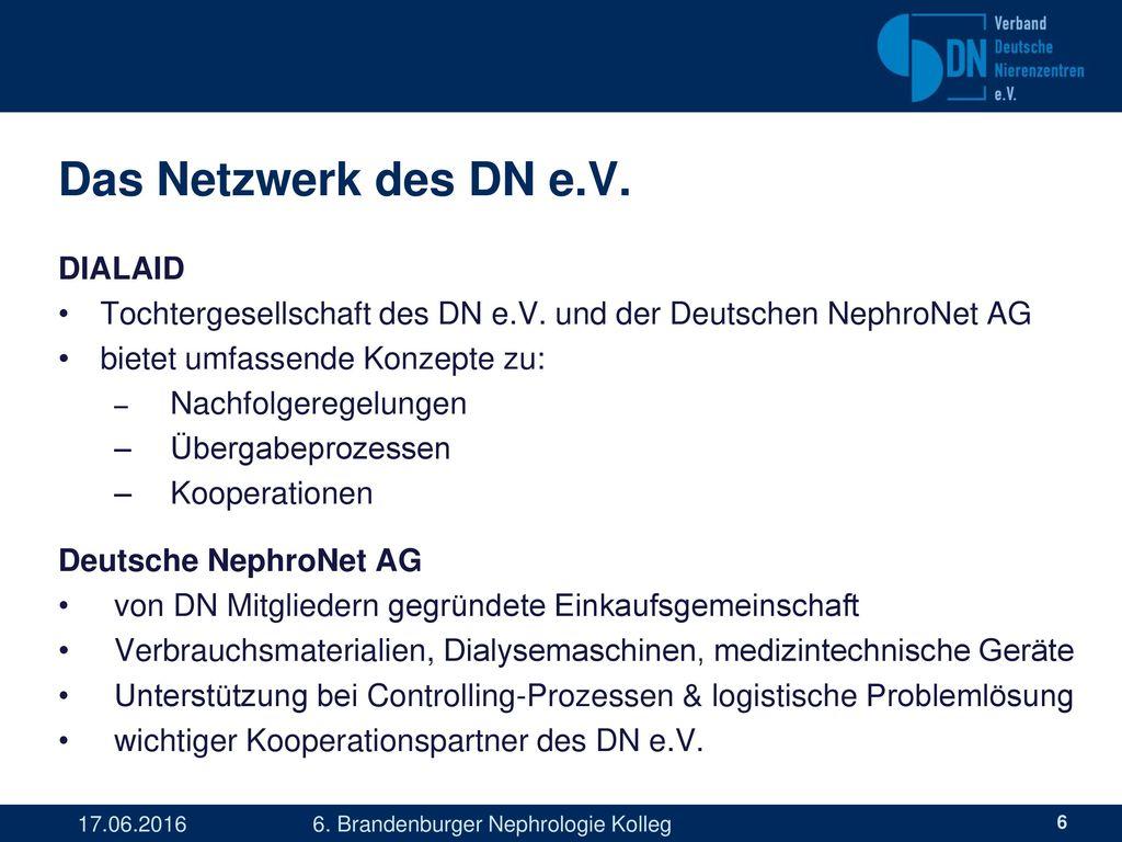 Das Netzwerk des DN e.V. DIALAID