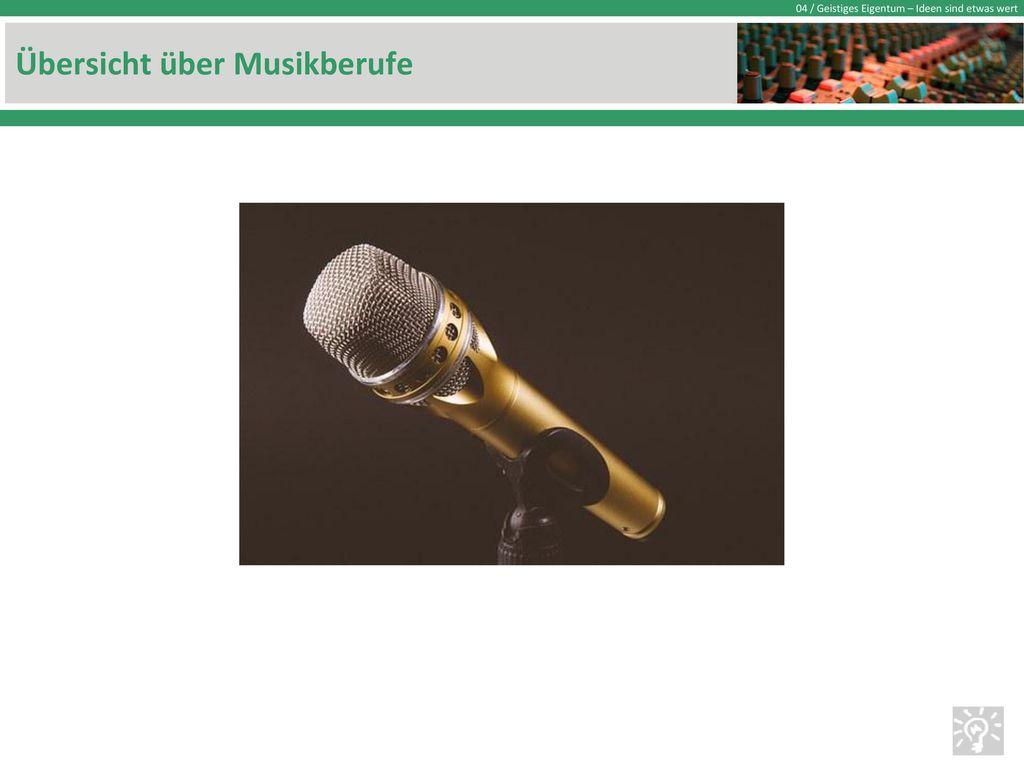 Übersicht über Musikberufe