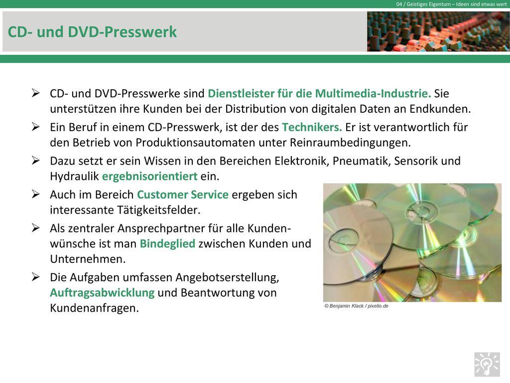 CD- und DVD-Presswerk