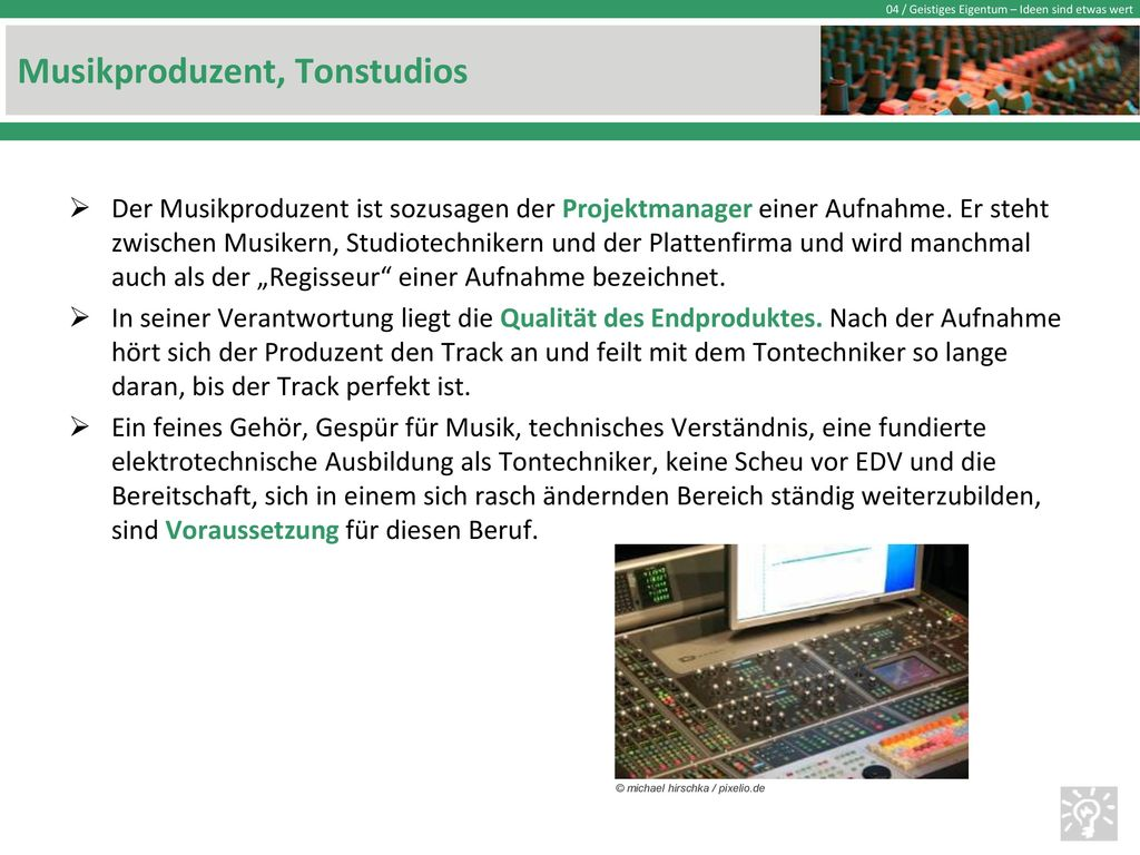 Musikproduzent, Tonstudios