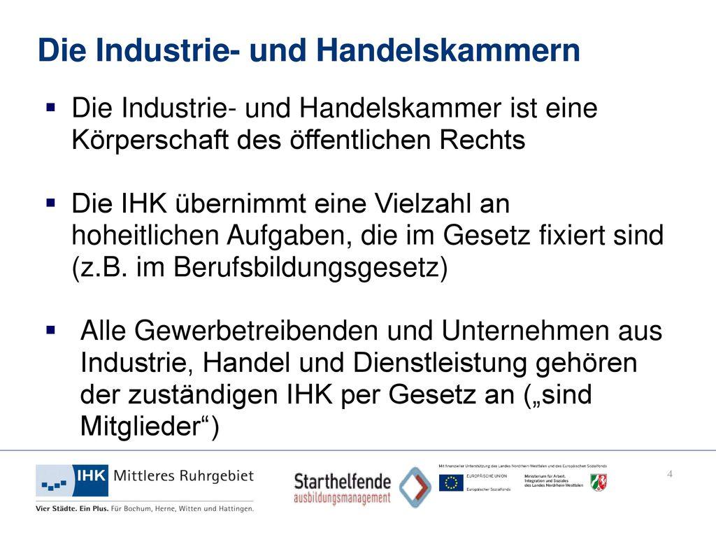 Die Industrie- und Handelskammern