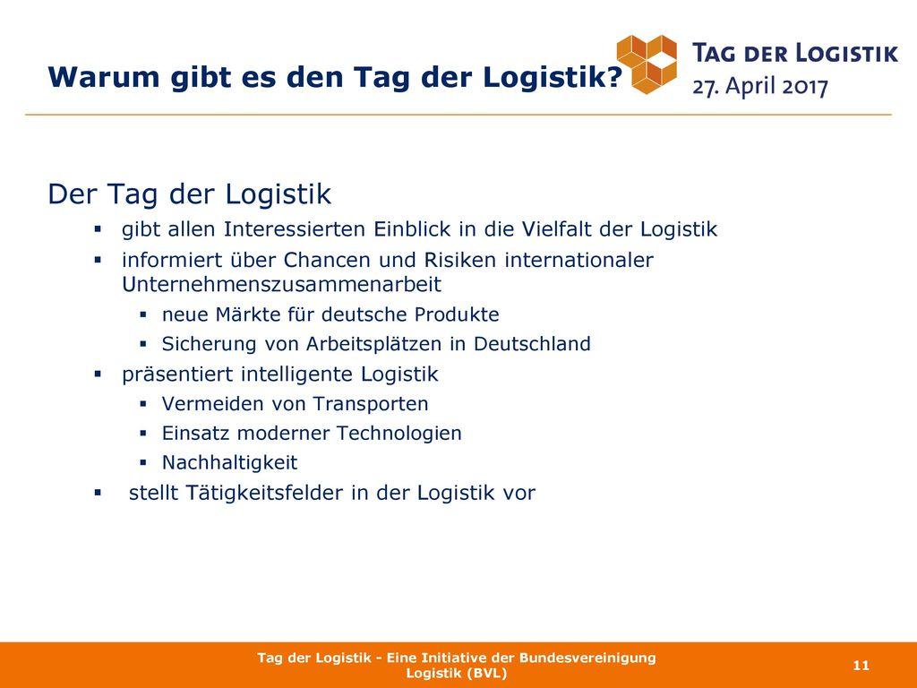 Warum gibt es den Tag der Logistik