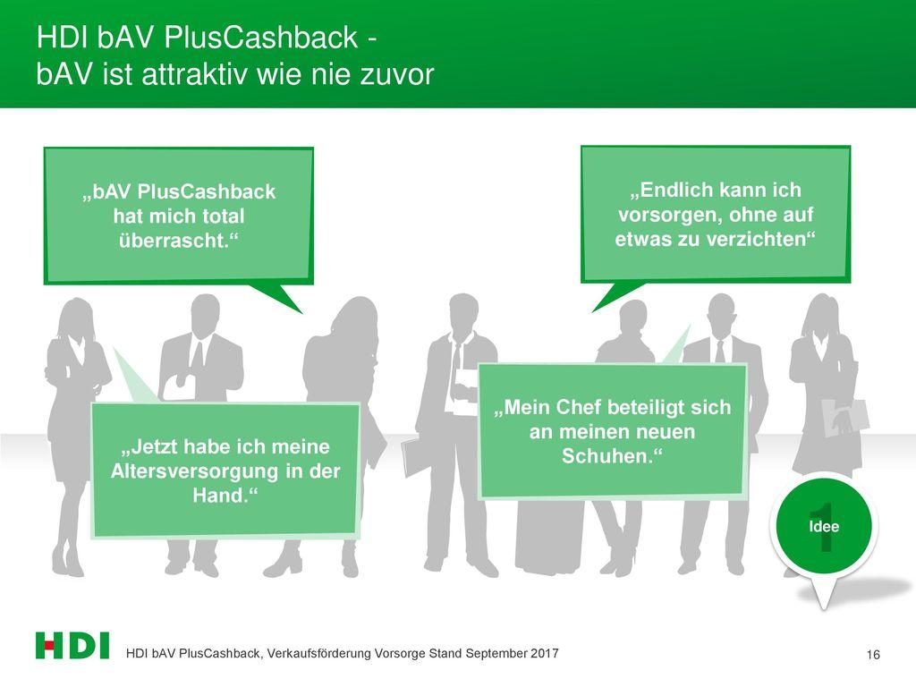HDI bAV PlusCashback - bAV ist attraktiv wie nie zuvor