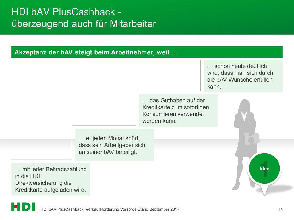 HDI bAV PlusCashback - überzeugend auch für Mitarbeiter