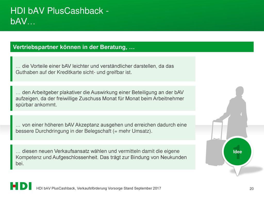 HDI bAV PlusCashback - bAV…
