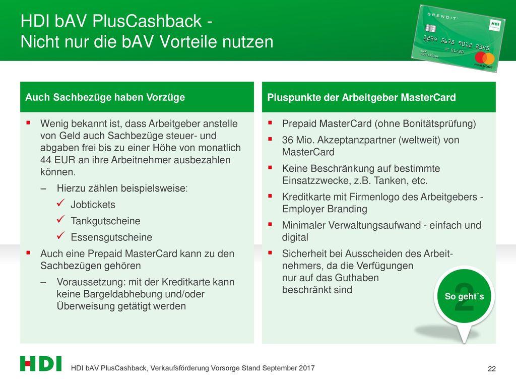 HDI bAV PlusCashback - Nicht nur die bAV Vorteile nutzen