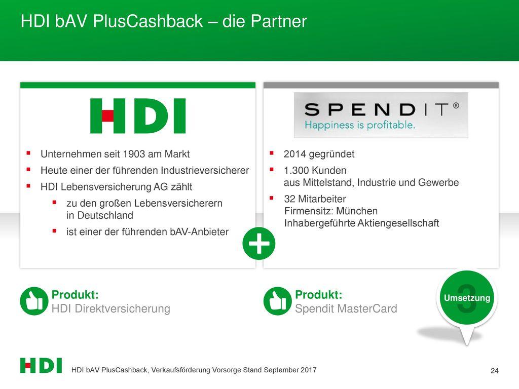 HDI bAV PlusCashback – die Partner