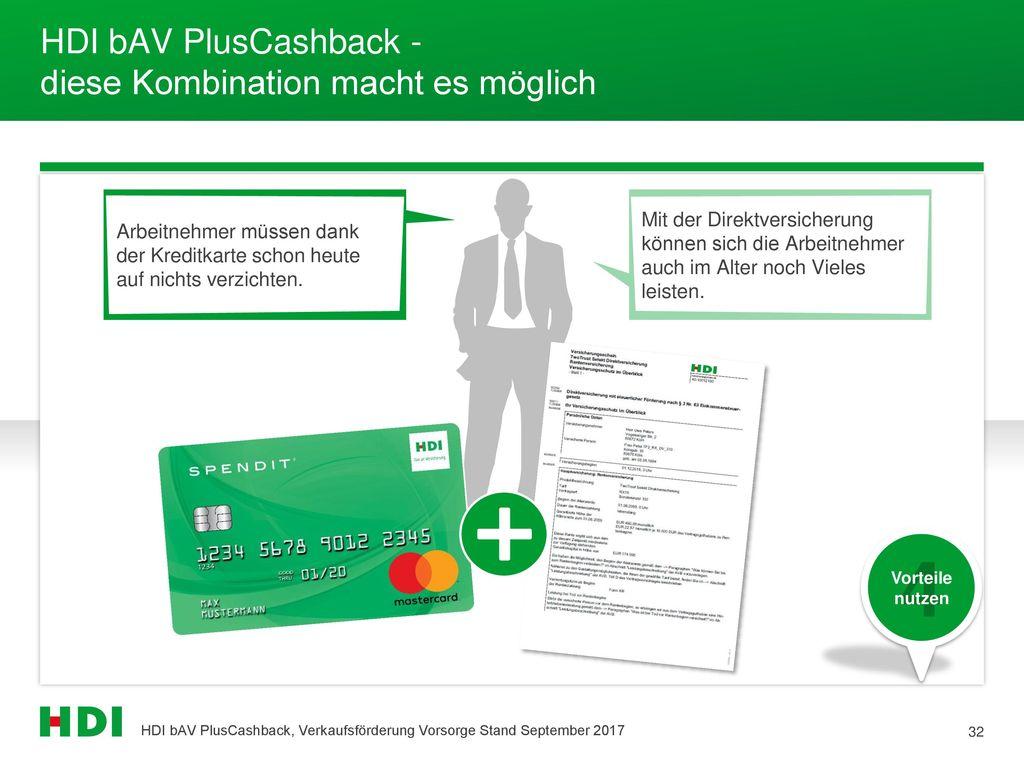 HDI bAV PlusCashback - diese Kombination macht es möglich