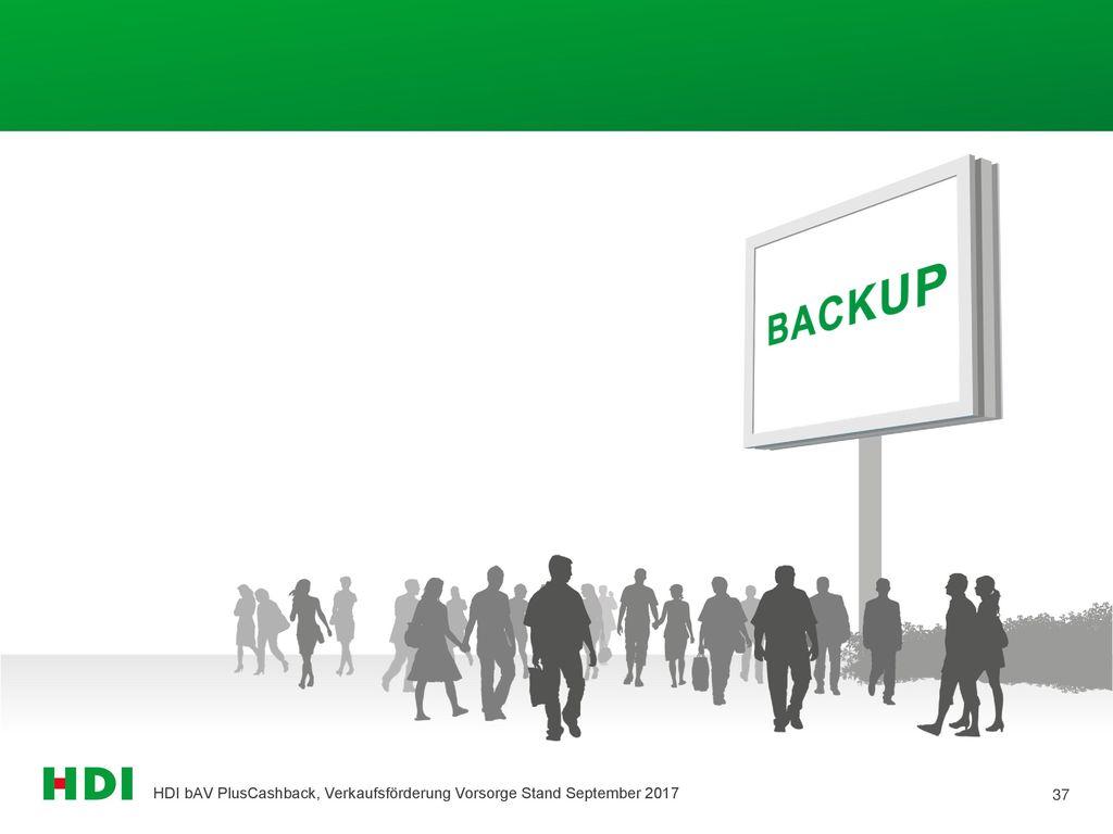 HDI bAV PlusCashback, Verkaufsförderung Vorsorge Stand September 2017