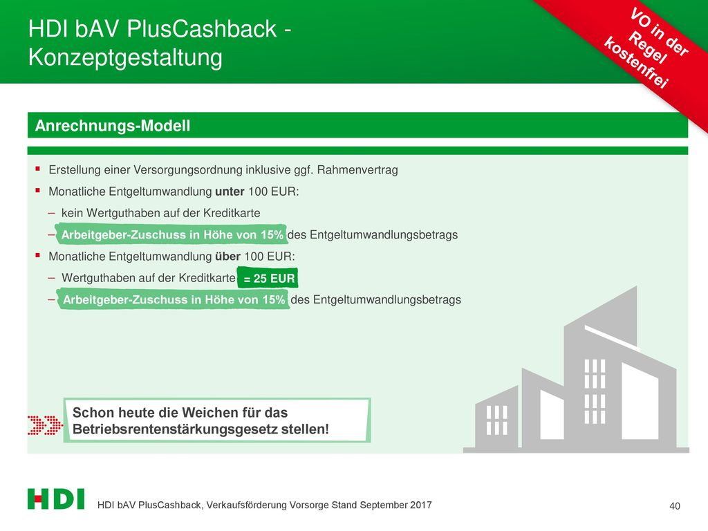 HDI bAV PlusCashback - Konzeptgestaltung