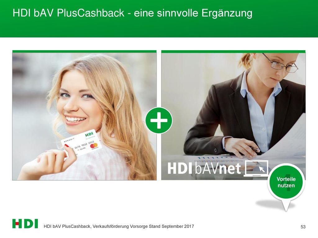 HDI bAV PlusCashback - eine sinnvolle Ergänzung