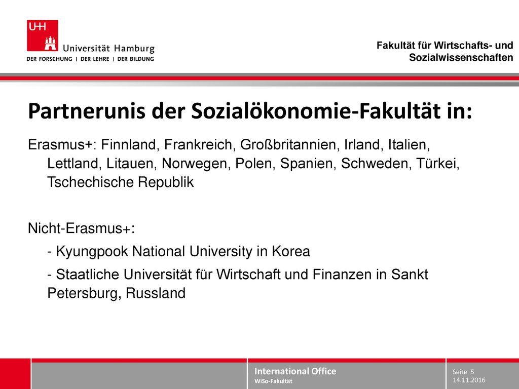 Partnerunis der Sozialökonomie-Fakultät in: