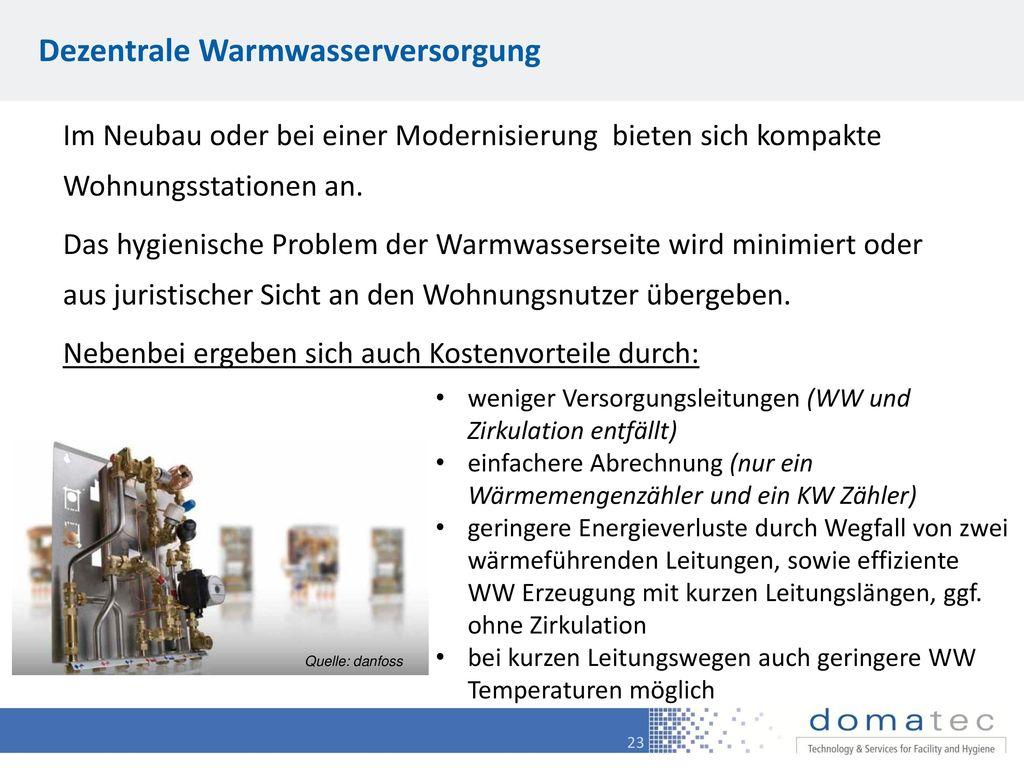 Dezentrale Warmwasserversorgung