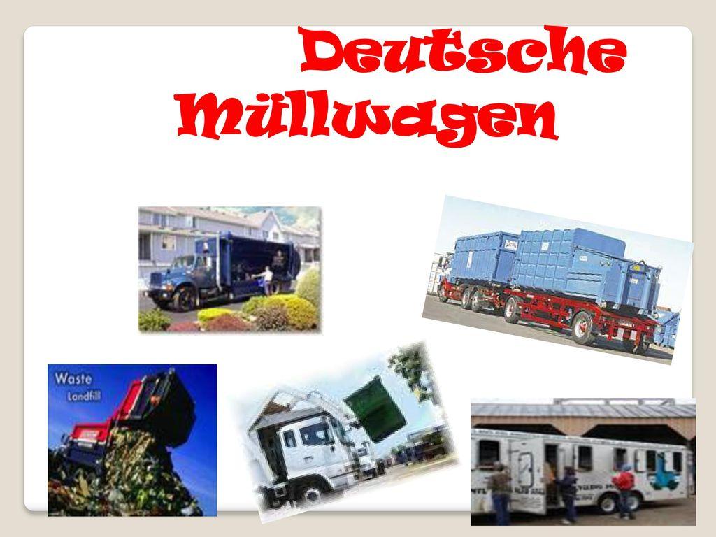 Deutsche Müllwagen