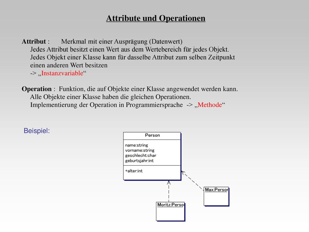 Attribute und Operationen