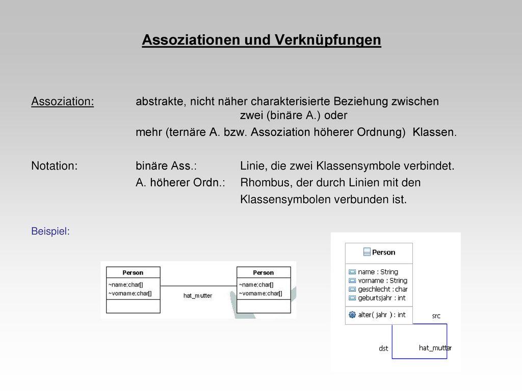 Assoziationen und Verknüpfungen