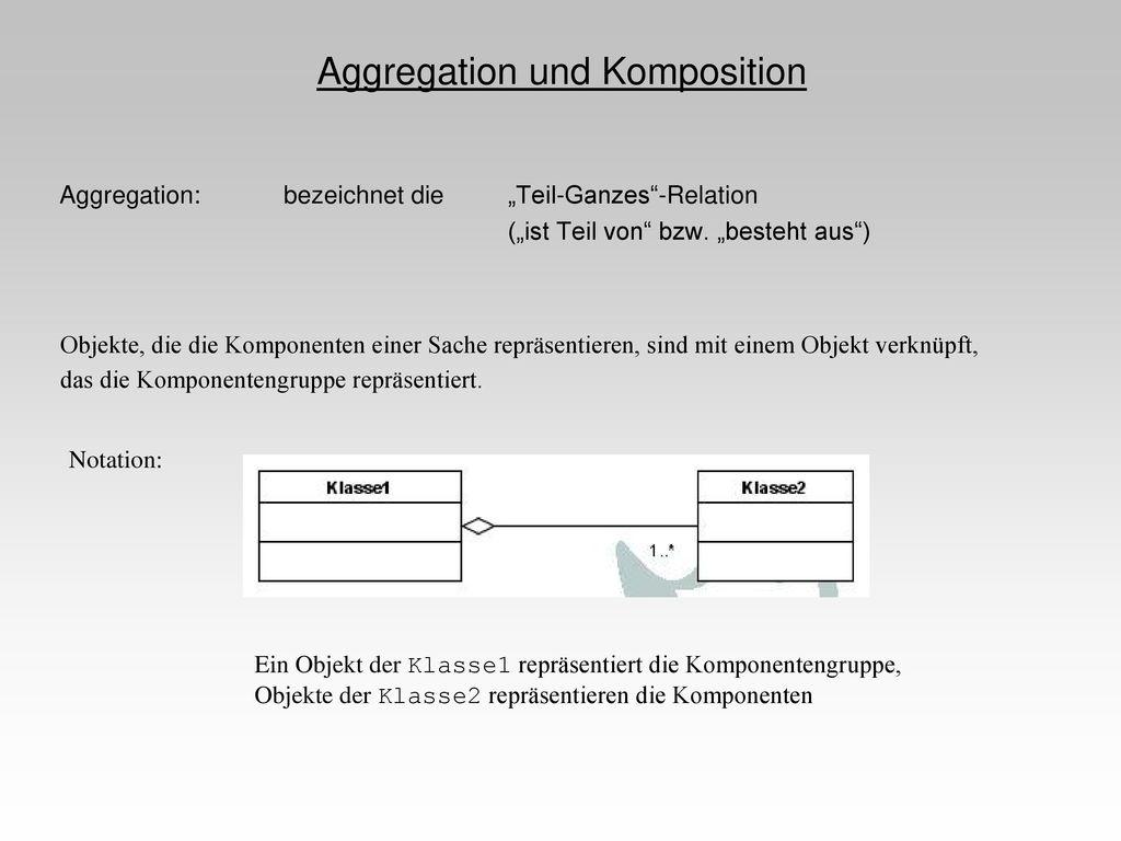 Aggregation und Komposition