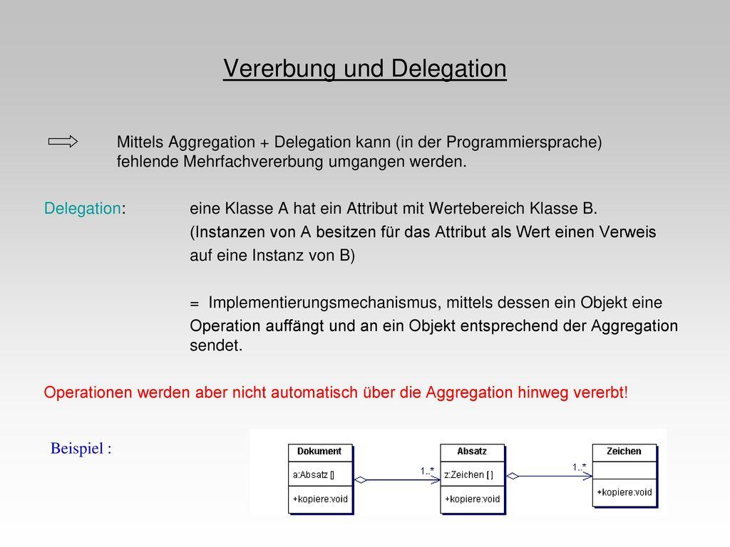Vererbung und Delegation