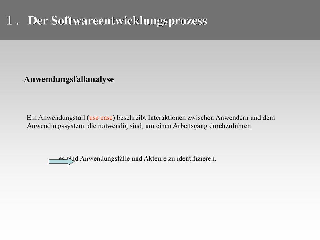 Der Softwareentwicklungsprozess